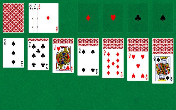 косынка карты 3 в играть